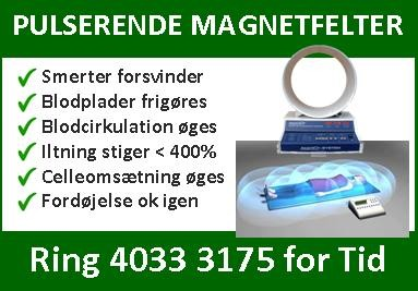 Pulserende Magnetfelt Terapi - Smerter, Migræne, Fodeøjelsenproblemer forsvinder!