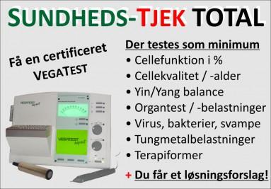 Sundheds-TJEK Total - Vegatesten finder alle ubalancer og belastninger i din krop.