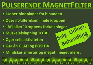 Pulserende Magnetfelter behandler årsagen til dit problem!